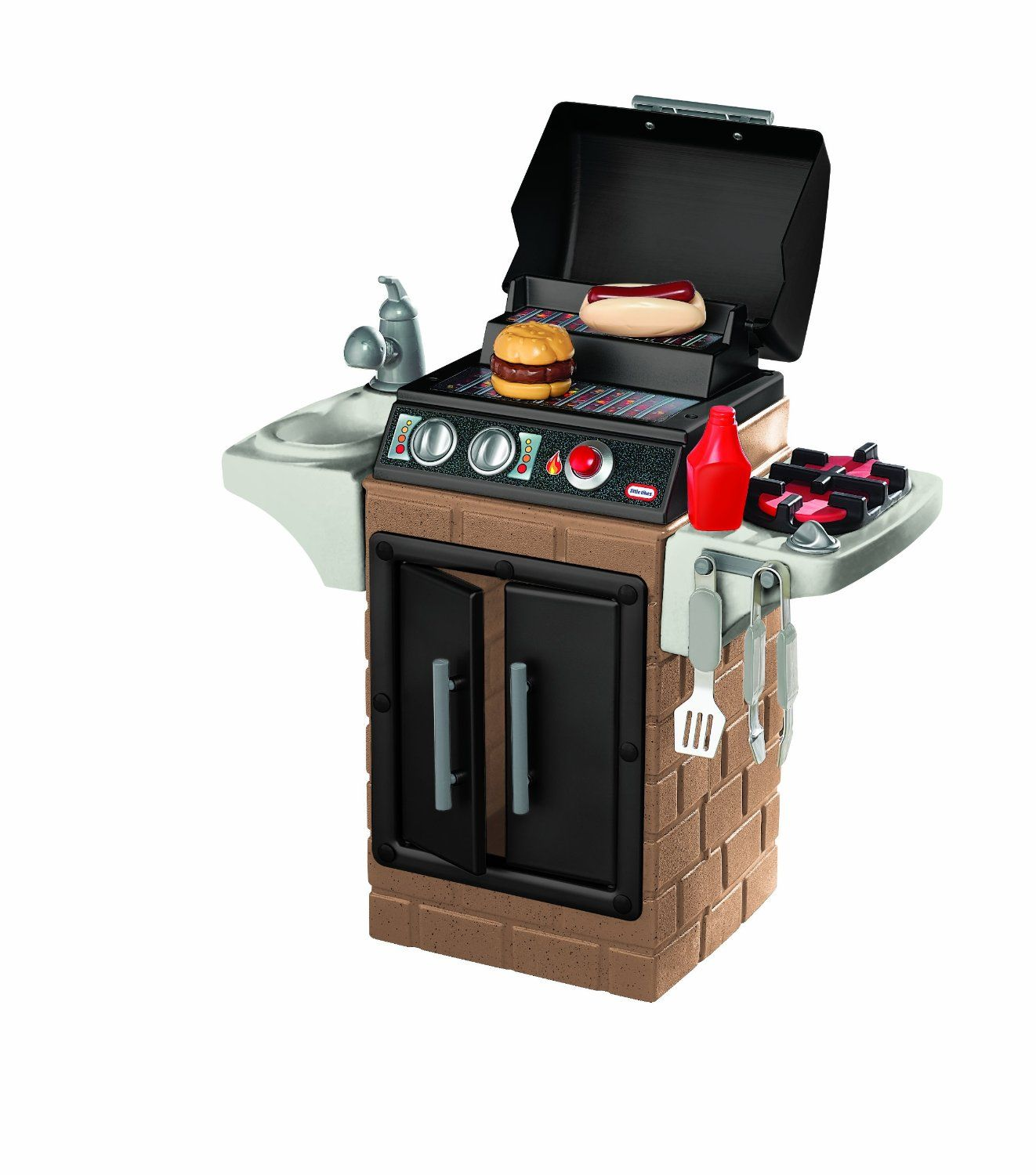 Amazon.com: Little Tikes Get Out n\' Grill Kitchen Set: Toys & Games ...