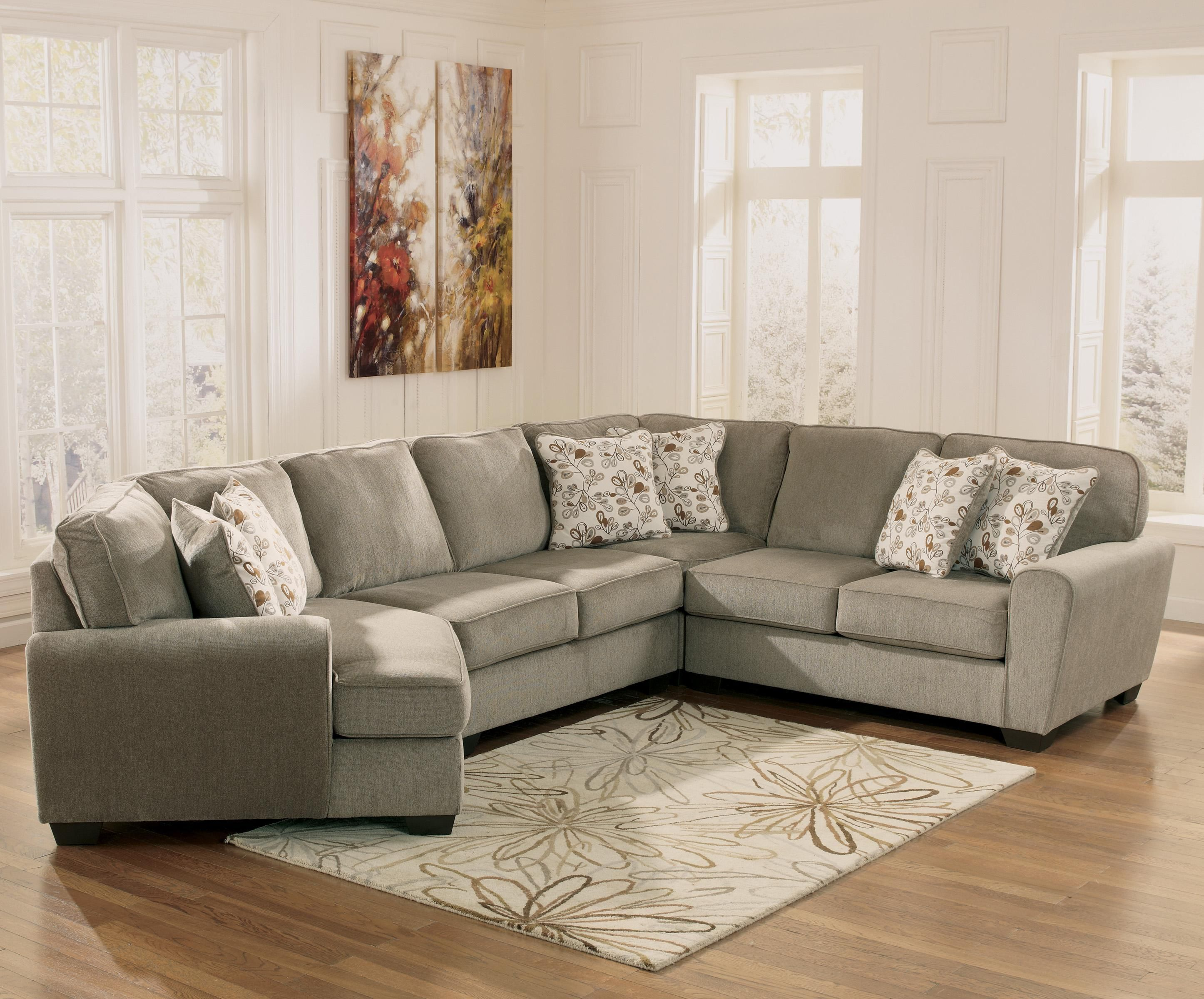 Patola Park Patina 4 Piece Small Sectional with Left Cuddler by