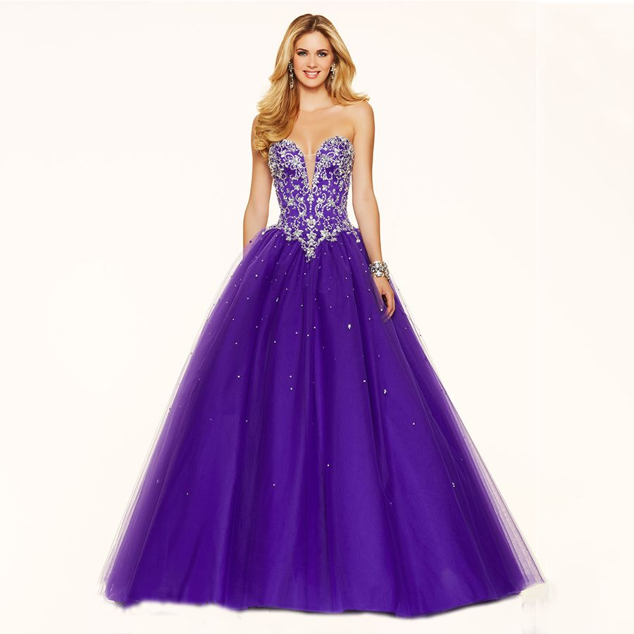 Luxury masquerade ball gowns puffy beading with crystals
