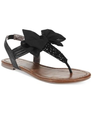 aa9f1803943a ... Shoes   Bags for Women. Material Girl Swan Flat Thong Sandals