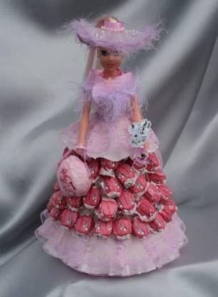 Кукла и конфеты своими руками 918