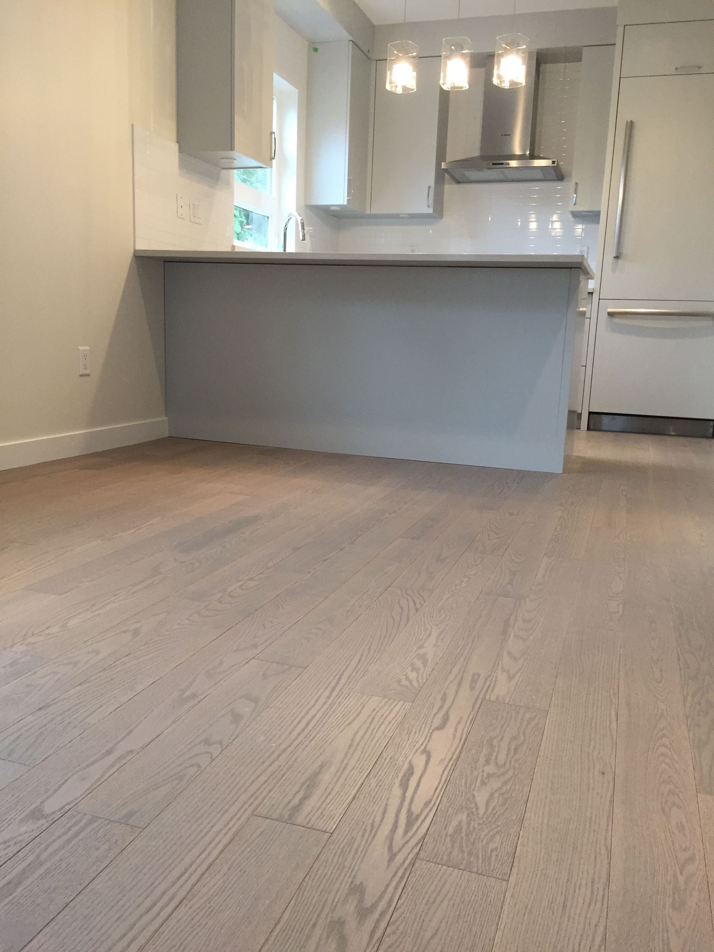 Beautiful Kitchen Featuring Lauzons Nostalgia Wire Brushed Hardwood Flooring From