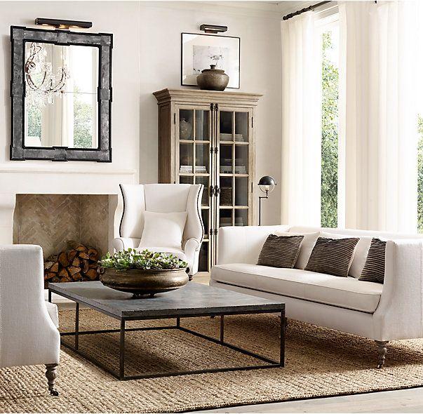 St George Shelter Arm Upholstered Sofa Restoration Hardware Living Room French Country Living Room Living Decor