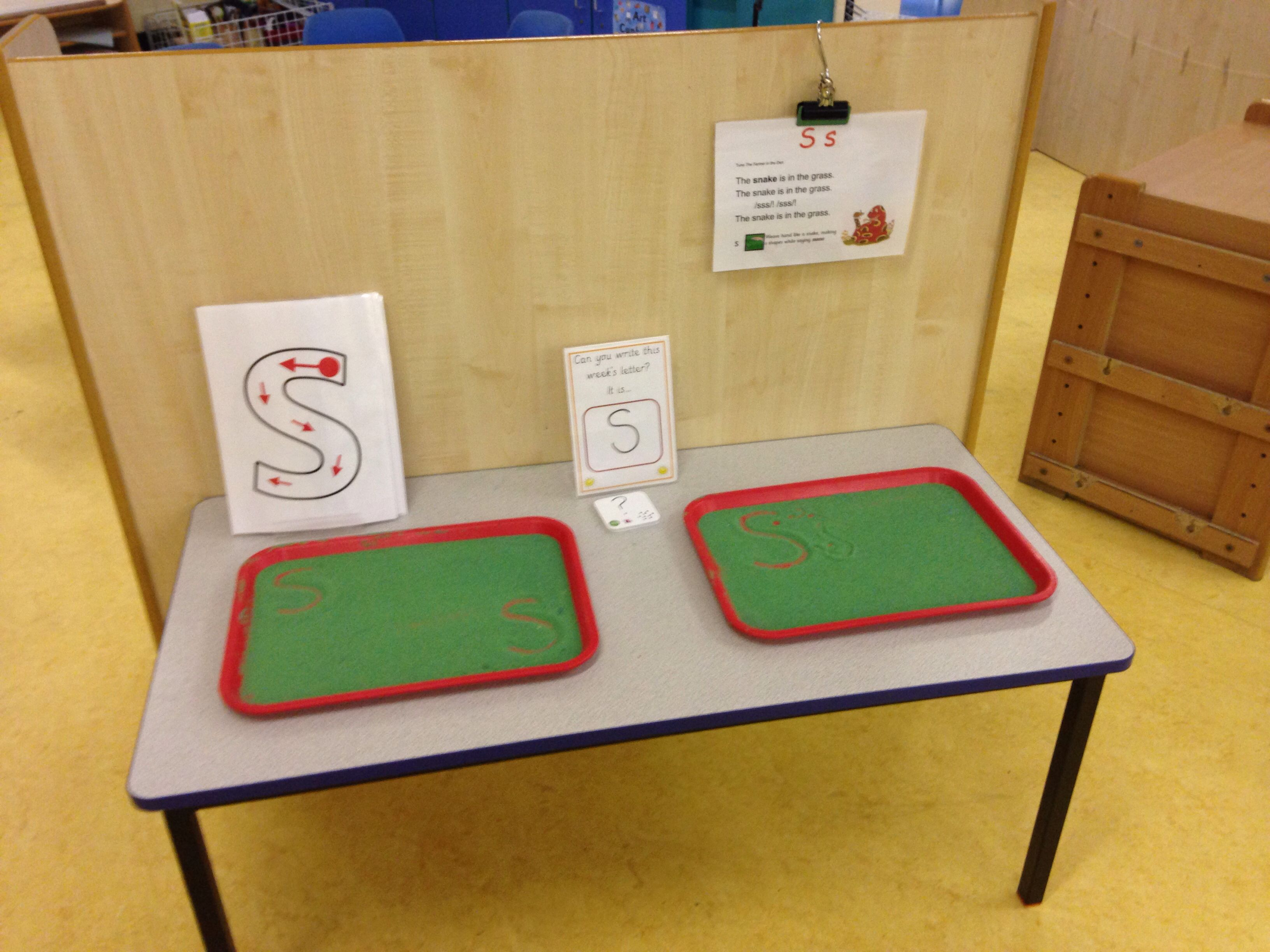 Letter Writing Practice In Coloured Sand Jolly Phonics