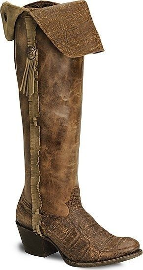Fringed Cowgirl Boots - Handcrafted
