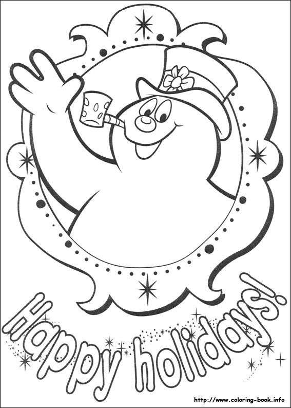 Frosty The Snowman Coloring Picture Snowman Coloring Pages
