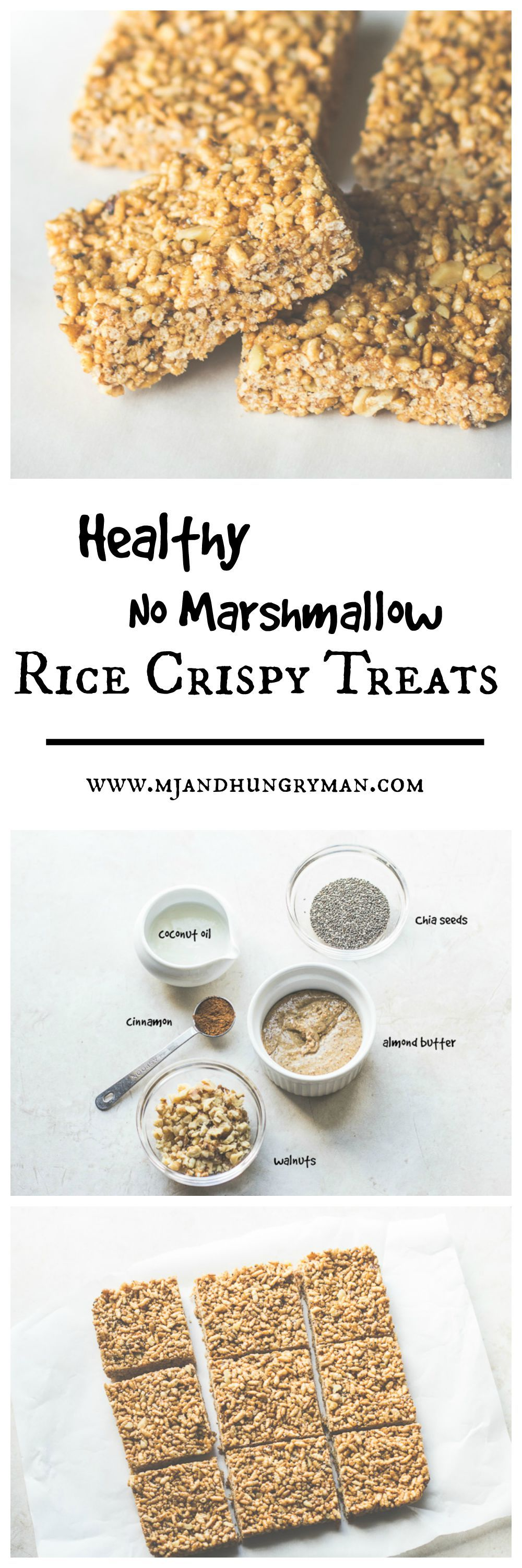 Healthy No Marshmallow Rice Crispy Treats