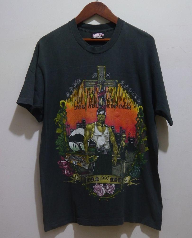 Rare vintage 1993 90s conart new york graffiti gangsta hip hop clothing t shirt