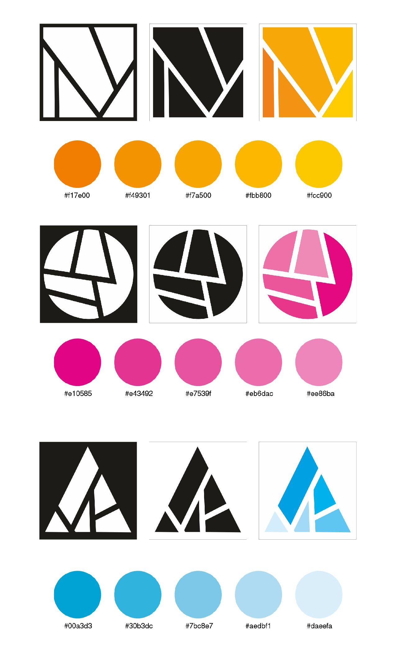Composición modular: positivo - negativo y degradación en el color ...