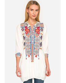 411a7eff7dac5 Johnny Was Womens Sunny Challis Tunic Top