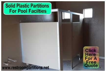 Quality DIY Plastic Restroom Partitions For Swimming Pool Facilities - Solid plastic bathroom partitions