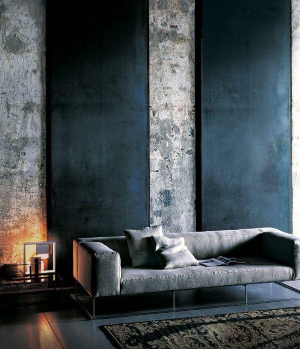 Kalkverf muur? Lounging Around Pinterest Grau, Wohnzimer und Stahl