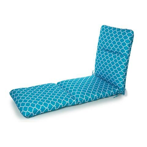Perfect Outdoor Highback Patio Sunlounge Cushion   Teal | Kmart