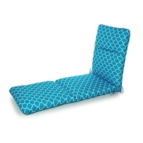 Outdoor Highback Patio Sunlounge Cushion Teal Kmart