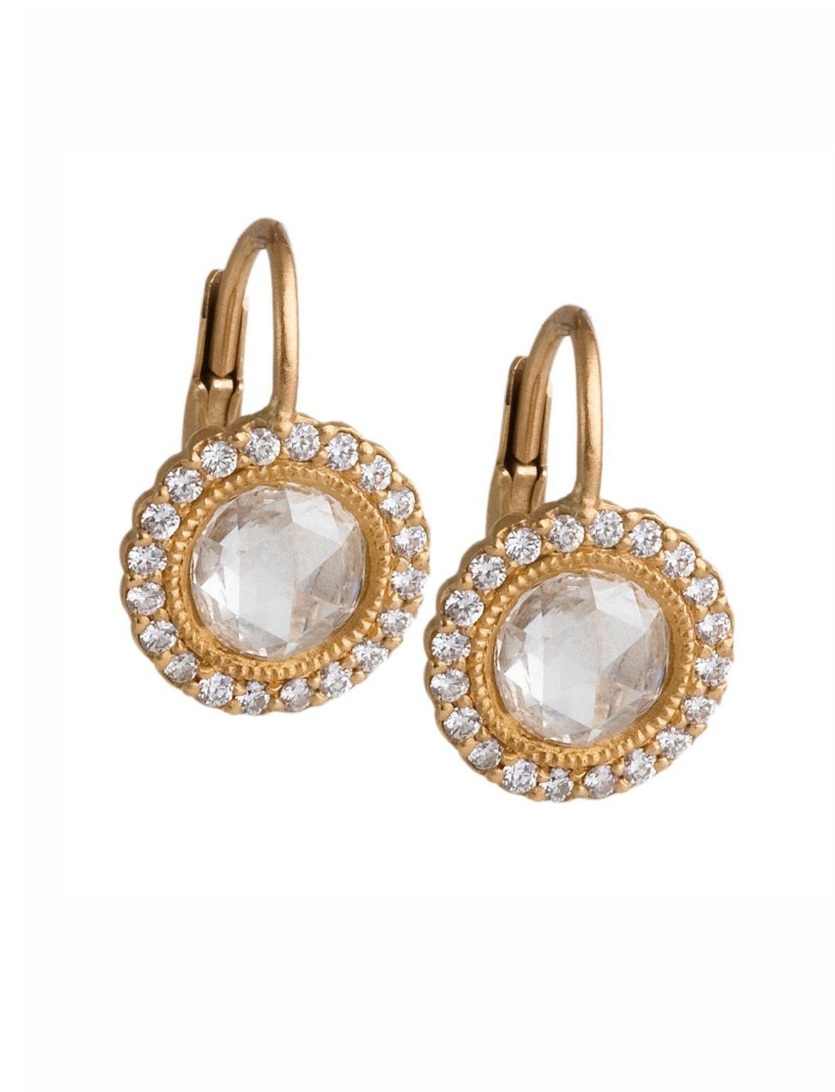 Jamie Wolf 18k Small Diamond Vine Drop Earrings BKturk
