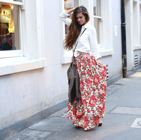 28 Trendy Maxi Skirts For This Spring