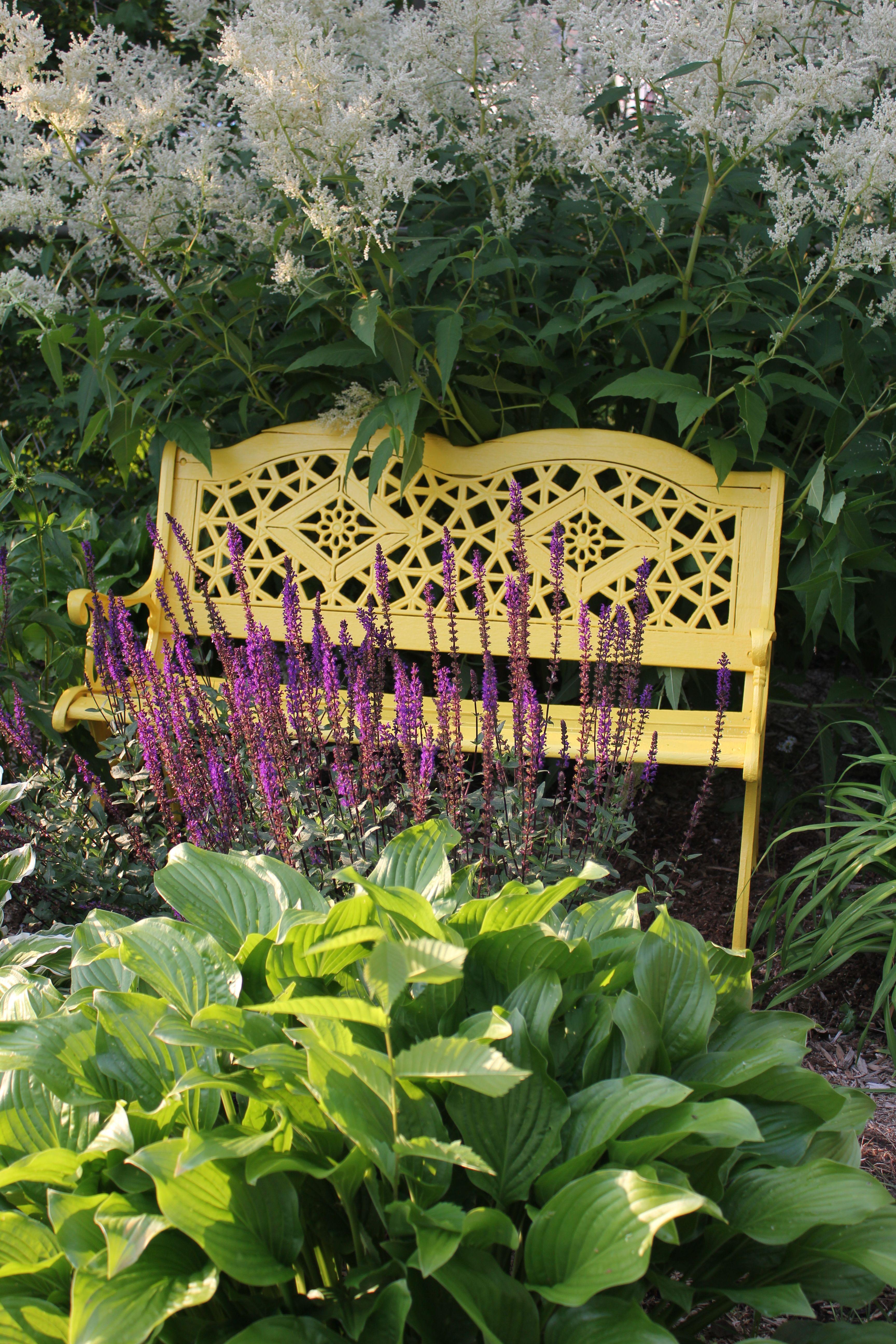 J ai donné une seconde vie au vieux banc de jardin en bois et en