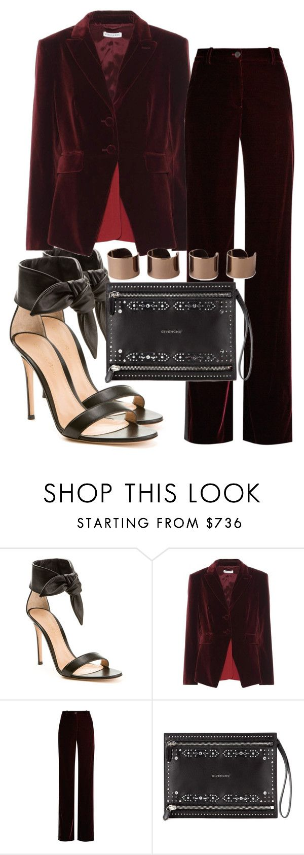 """""""Untitled #1853"""" by mariandradde ❤ liked on Polyvore featuring Gianvito Rossi, Altuzarra, Roberto Cavalli, Givenchy and Maison Margiela"""