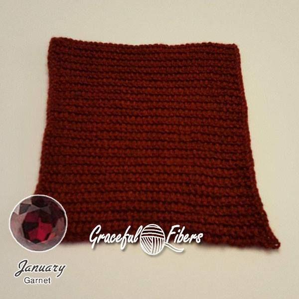 Textured Garnet Square | Free Knit Pattern | Graceful Fibers ...