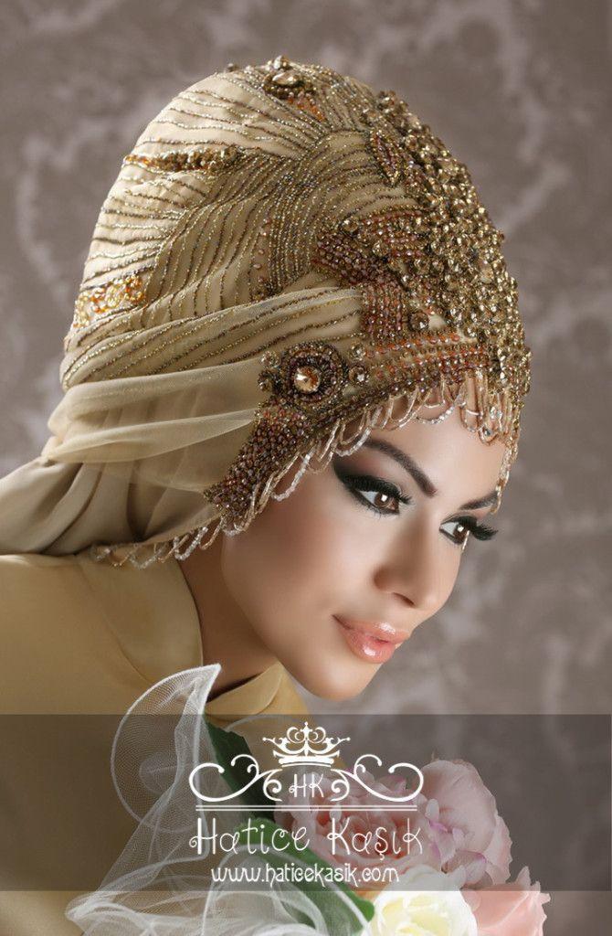 Photo of Hatice Kaşık 2015 Hijab Bridal Head Designs