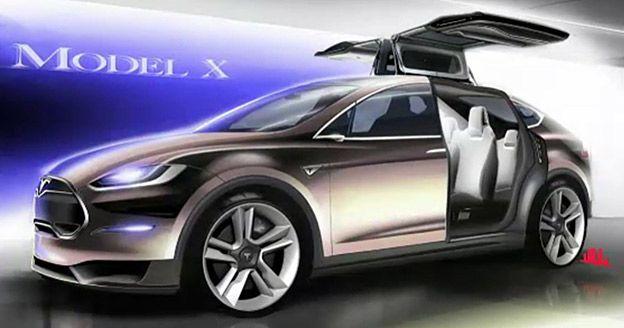 Tesla Motors Unveils Model X Electric Minivan Suv Pics Tesla Model X Tesla Model Tesla Motors