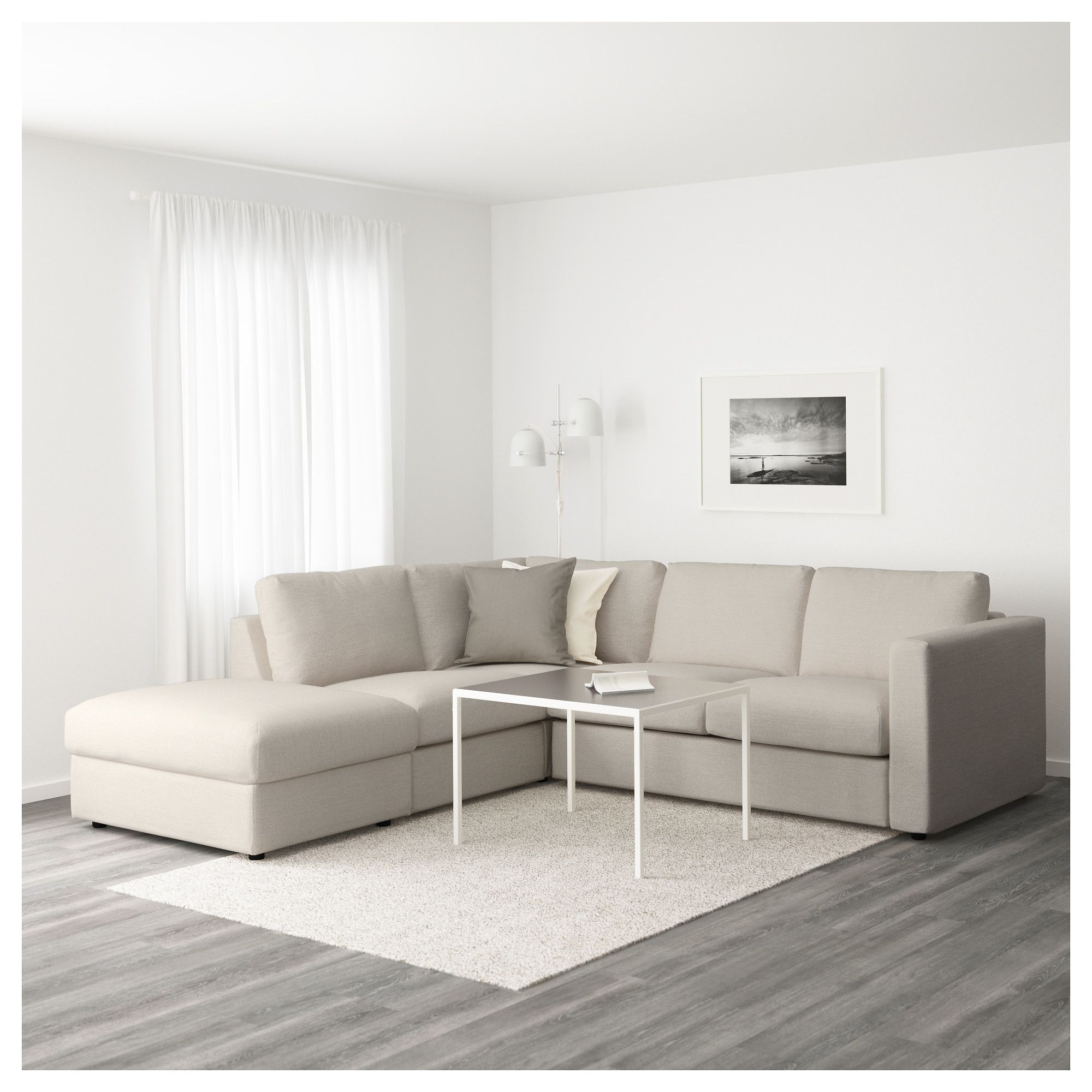 IKEA - VIMLE Sectional, 4-seat corner with open end, Gunnared beige ...