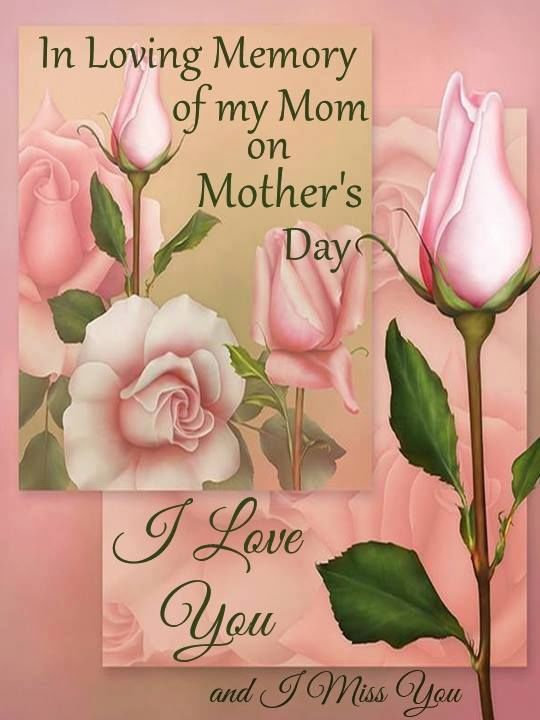 On Loving Memory Of My Mom On Mothers Day Holidays Mom Happy