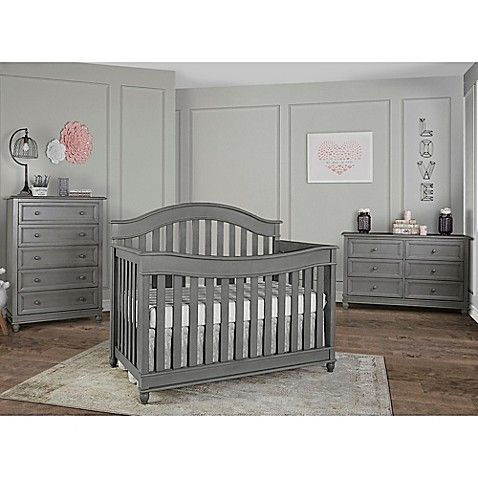 Evolur Hampton Nursery Furniture Collection In Storm Grey