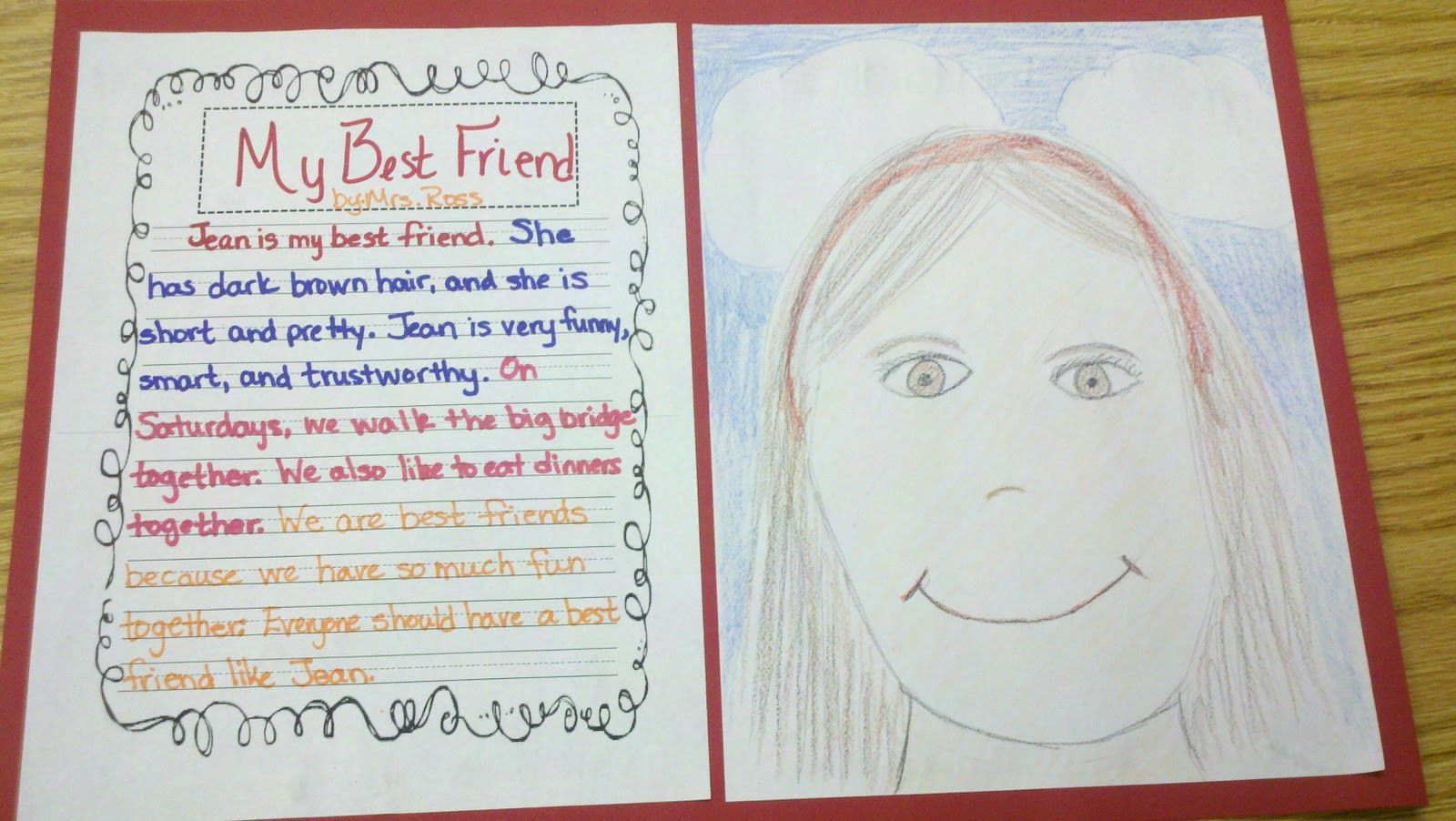 Friendship Writing Using Amber Brown Books