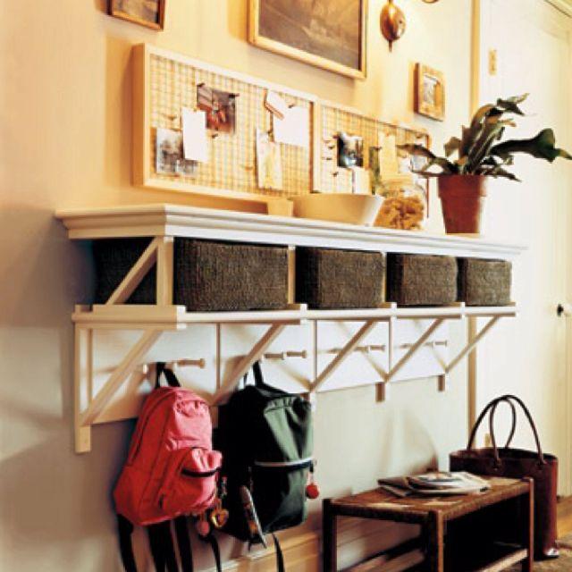 Decorative Ideas For Entryway Organization: Front Entry Organization
