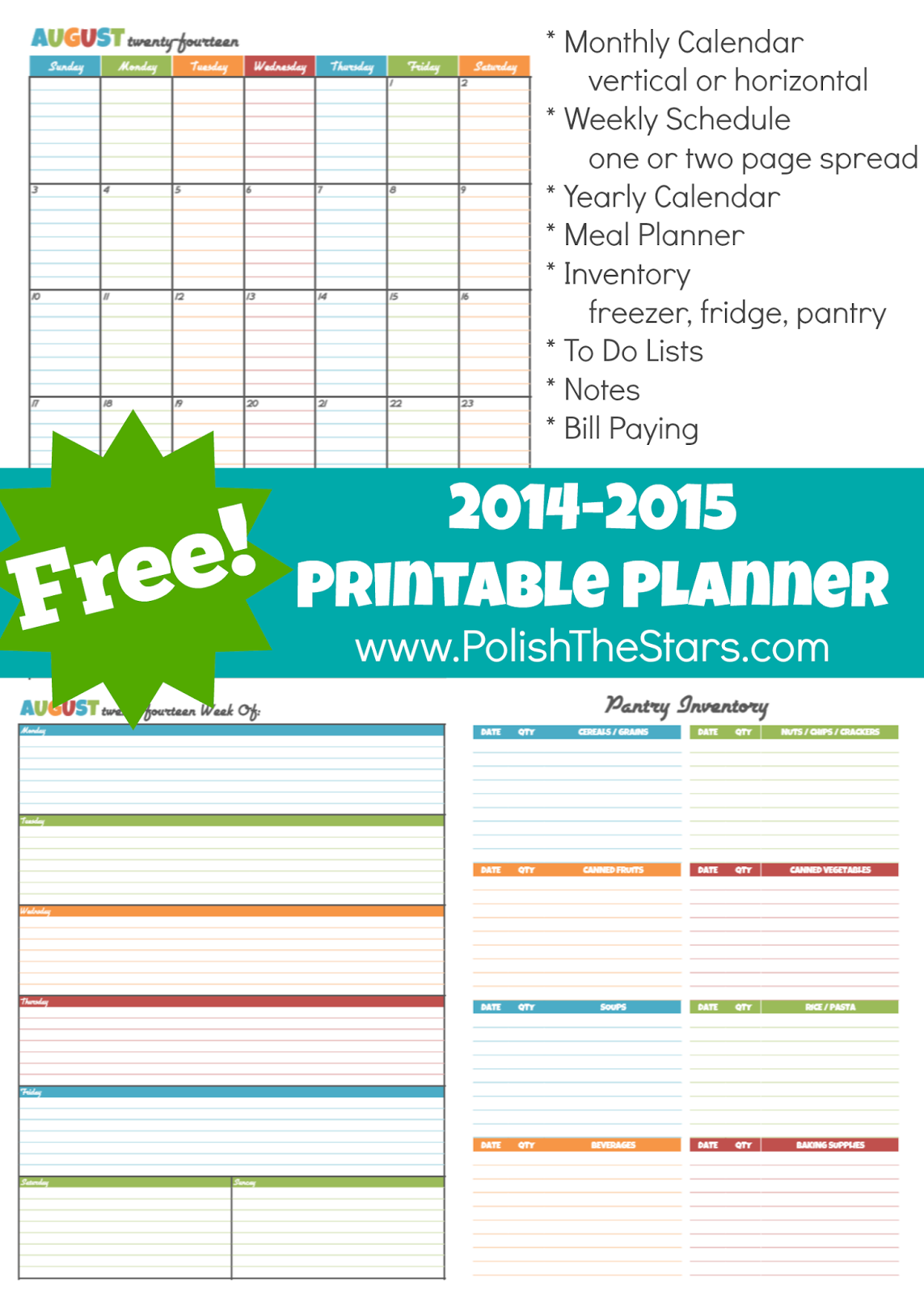 Free House Management Printable Planner