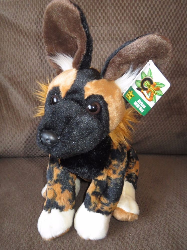 "AFRICAN WILD DOG Plush 12"" Stuffed Animal Wild Republic"