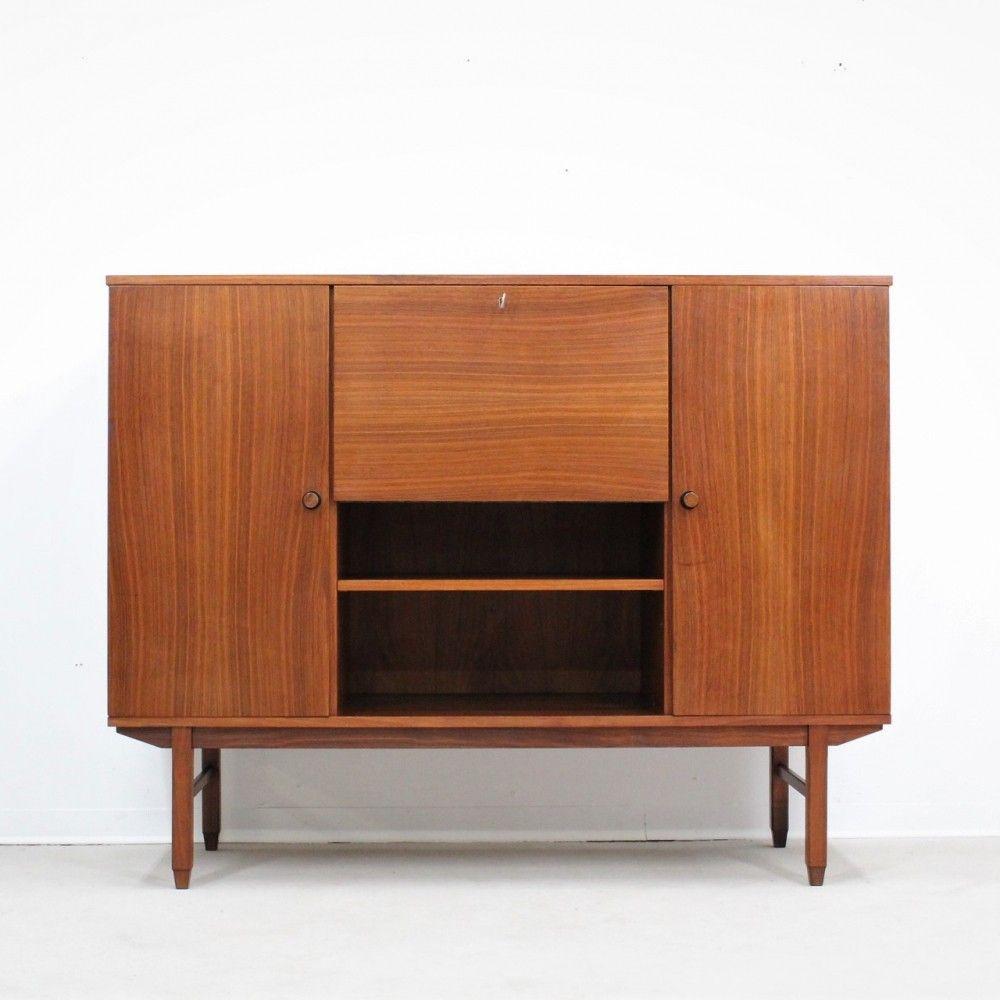 Mid Century Italian Design Teak Cabinet Cabinet Teak Design