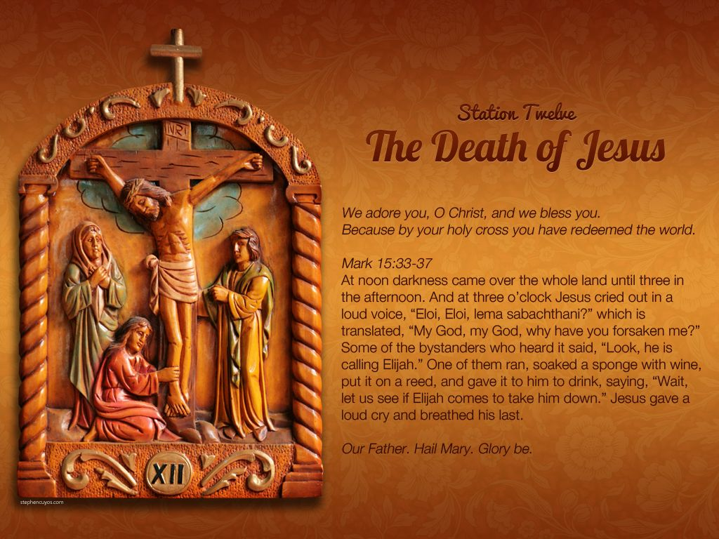 Station 12 of the Way of the Cross (Via Crucis) Holy