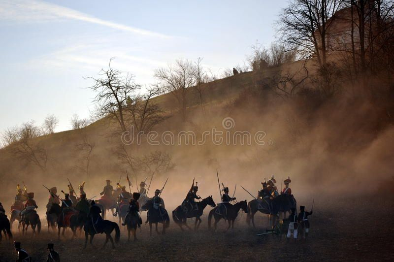 Cavalry battle History fans reacting the battle of 1805 Austerlitz Tvarozna vi