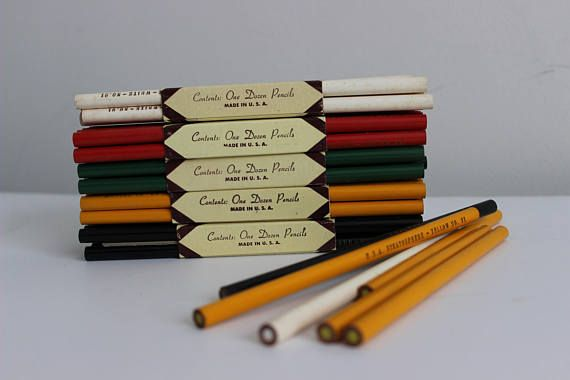 66 Vintage Stratosphere Colored Pencils New Old Stock
