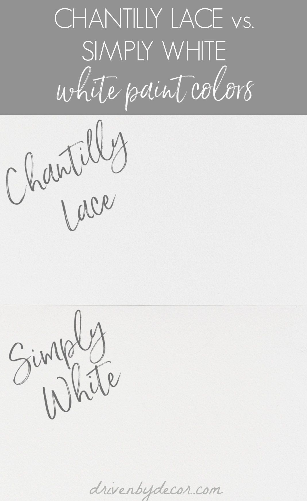 Chantilly Lace Paint Review