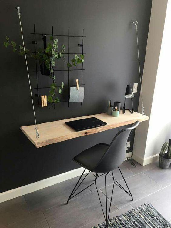 16 moderne Arbeitsplätze für kleine Wohnungen - farklifarkli - Dekoration #moderndecor