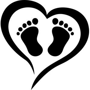 Silhouette Design Store Baby Feet Love Baby Feet Baby Silhouette Baby Feet Art