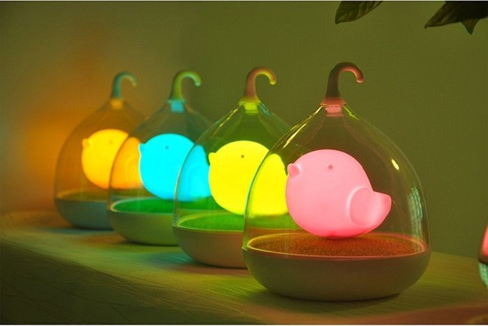 Rechargeable Birdcage Lamp Led Night Lamp Night Light Kids Birdcage Lamp
