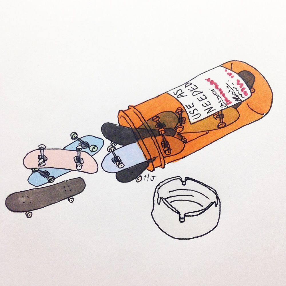 Henry Jones Skate Art Scooter