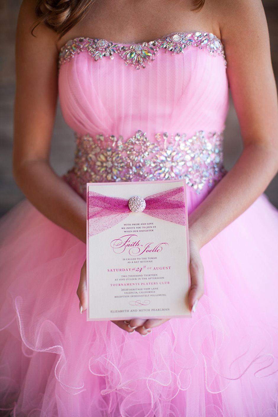 Glamorous Pink Princess Bat Mitzvah | http://www.beccarillo.com/bat ...