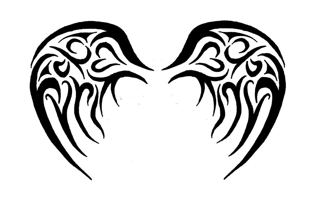 60bfc9d45 baby angel tribal wings by jaytori129 | Ink | Wing tattoo designs ...