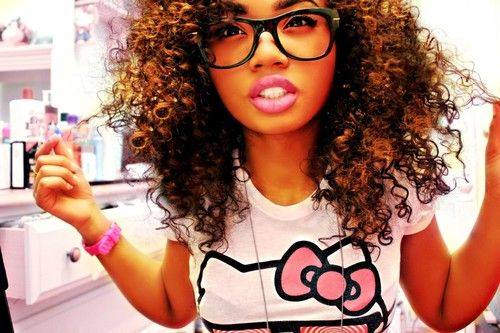 Curls And Nerdy Glasses Love Her Glasses I Do Not Have