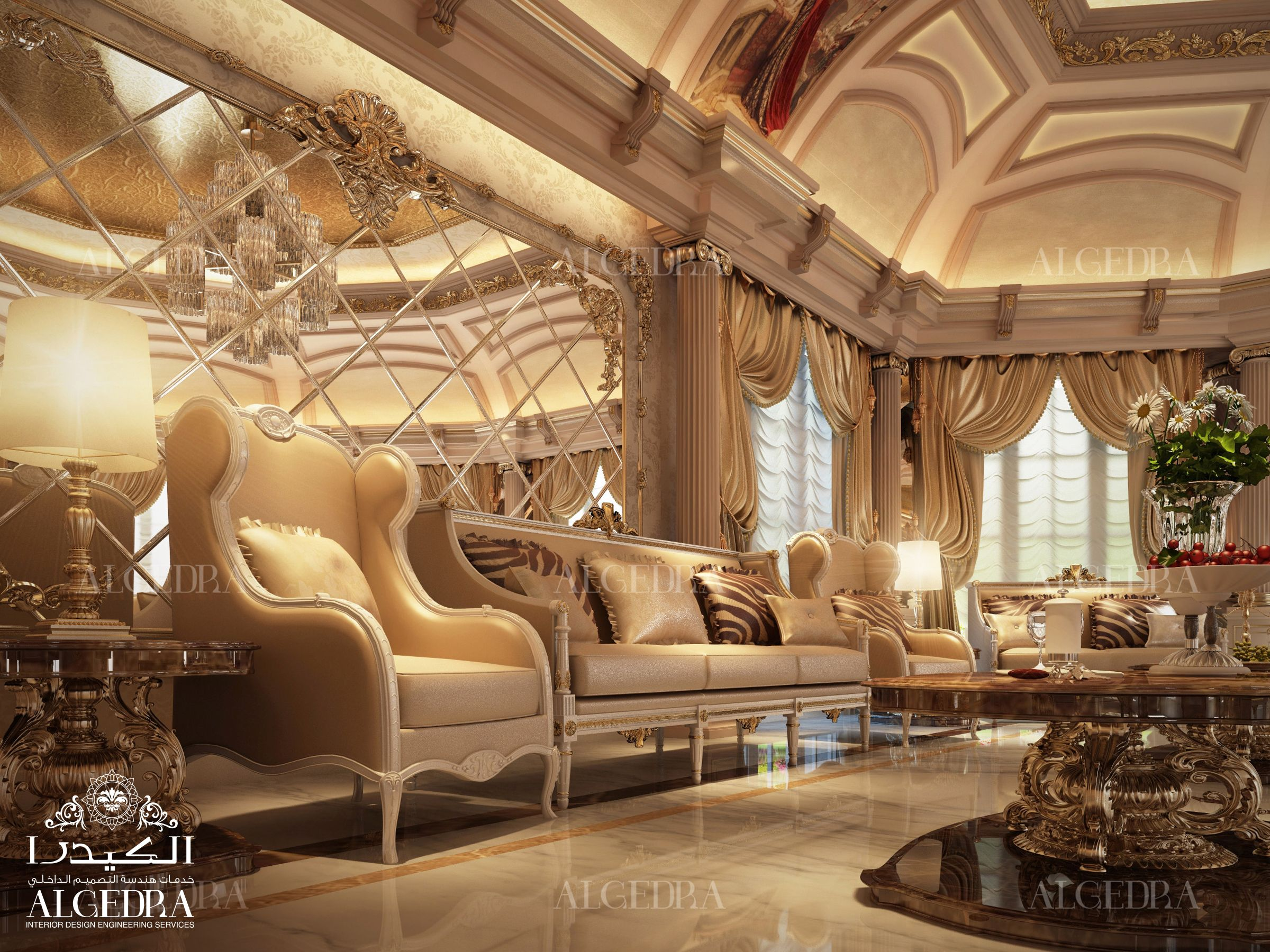 You can have a look at our lavish women majlis designs in the gallery - Explore Residential Interior Design And More