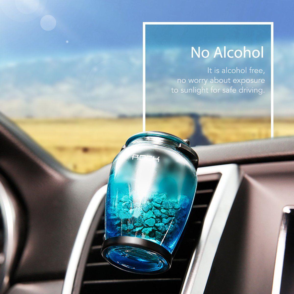 ROCK SPACE Car Perfume Zeolite Creative Refillable Car Air