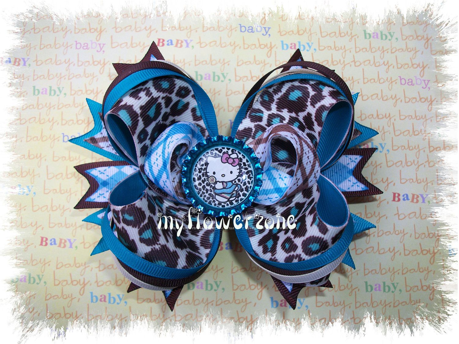 Cheetah turquoise and hello kitty perfect winter isabella