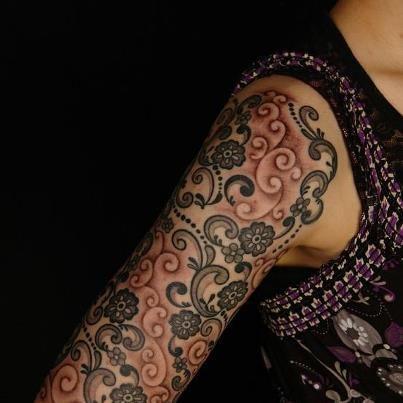 paisley half sleeve tattoo tattoos pinterest tattoo. Black Bedroom Furniture Sets. Home Design Ideas