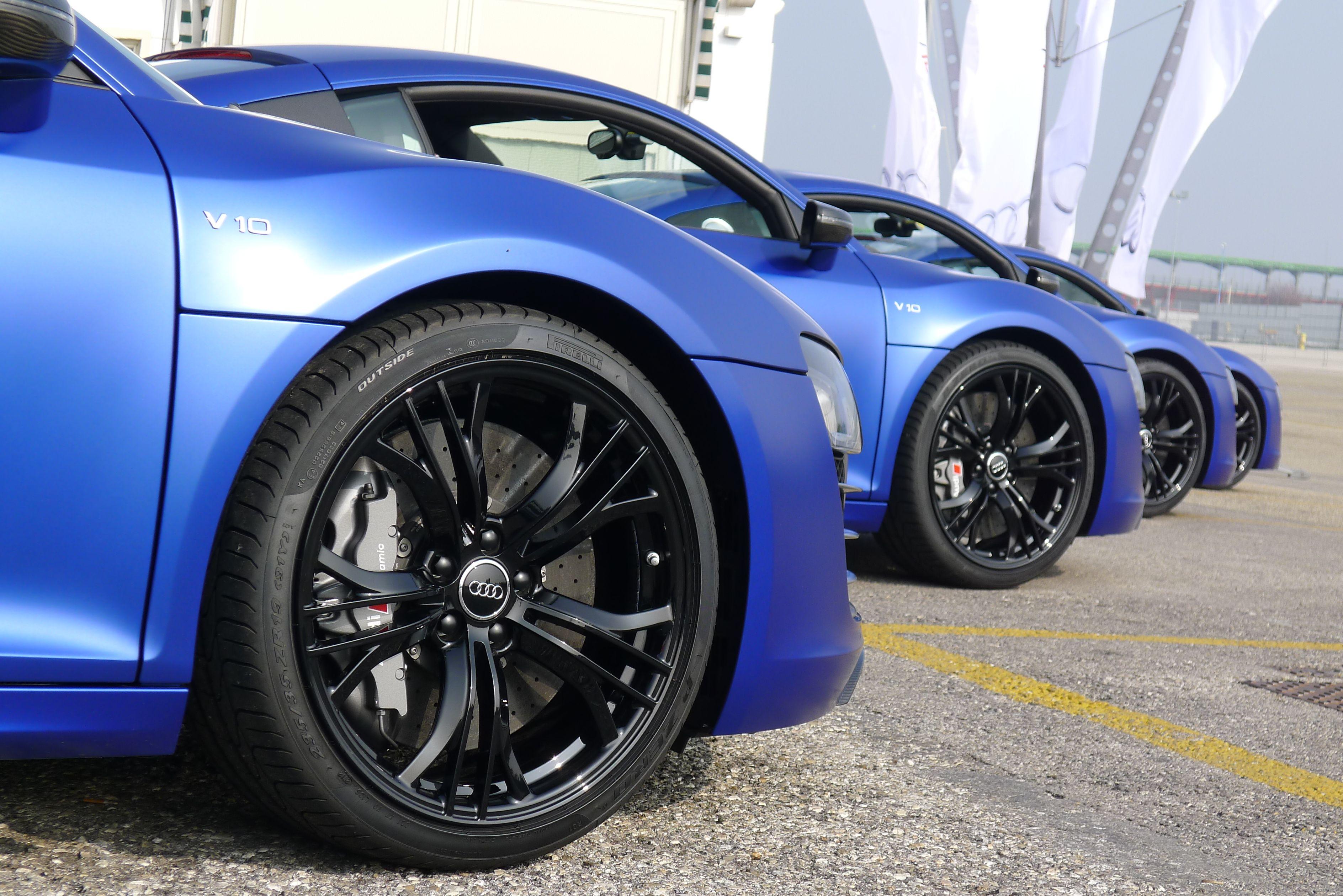 Audi R8 V10 Plus in Matt Sepang Blue. Damn!