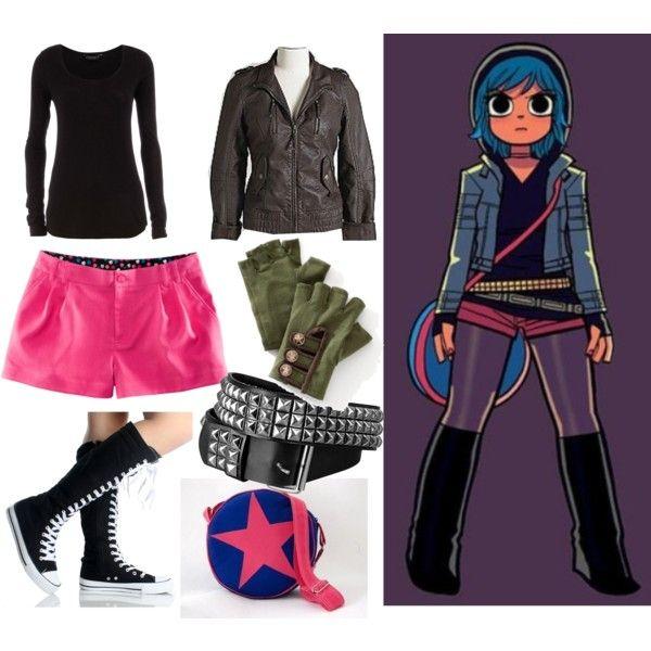 """""""Ramona Flowers"""" by ninja099 on Polyvore    Halloween Costume ideas :)"""